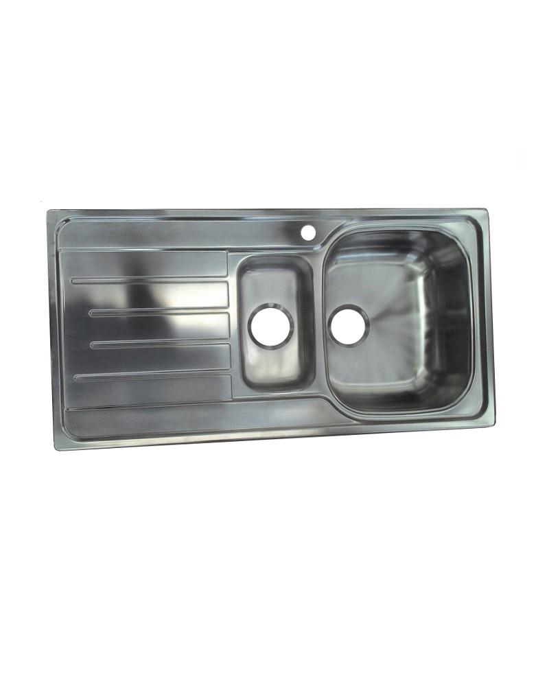 Lavello da cucina DavLux realizzato in acciaio inox.