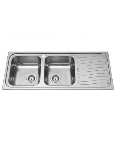 Lavello da cucina DavLux doppia vasca