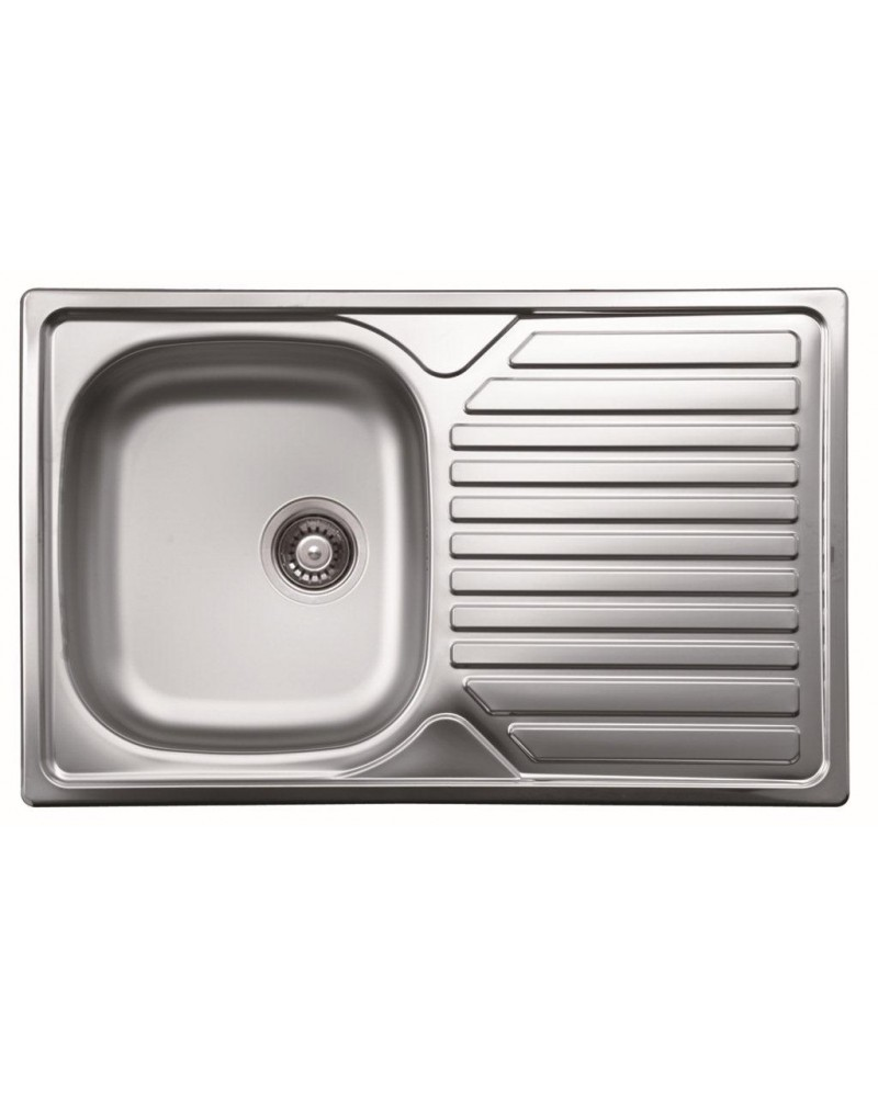 Lavello domestico da cucina DavLux. Realizzato in acciaio inossidabile.